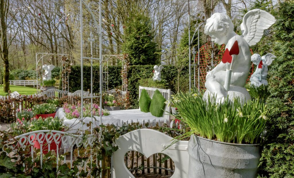 Romantischer Roter Garten
