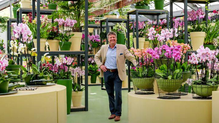 Cor Middelkoop over de orchidee in het Beatrix paviljoen